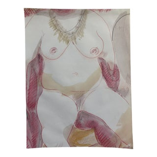 Portly Female Nude by James Bone 1990s For Sale