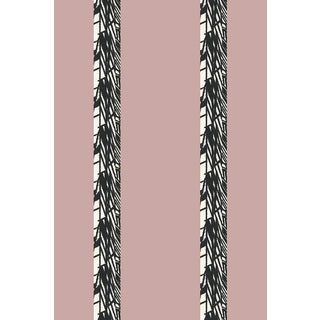 Luxe Stripe Medium Blush Wallpaper For Sale