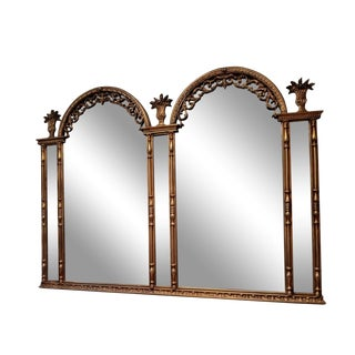 Oscar Bach Style French Gilt Mirror For Sale