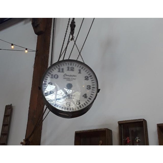 Vintage Industrial Factory Clock For Sale In San Francisco - Image 6 of 6