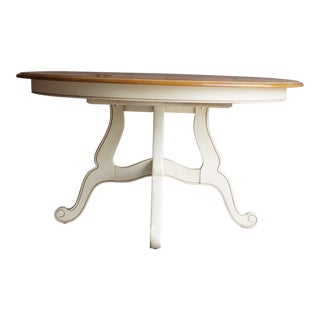 French Country Ethan Allen Round Dining Table For Sale