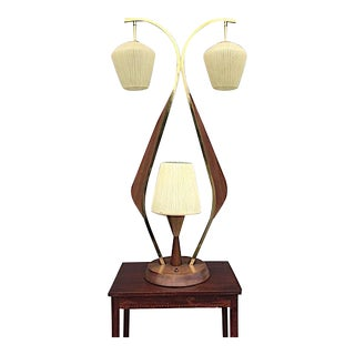 Impressive 3 Way Mid-Century Table Lamp For Sale