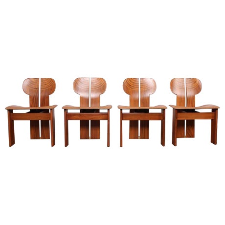 Four Africa Chairs by Afra & Tobia Scarpa For Sale