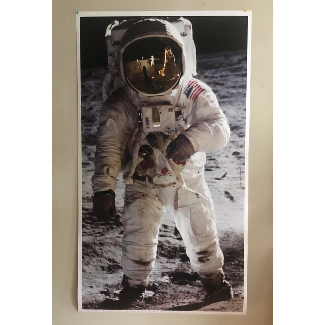 Photorealism 1960s Photorealist Print of a Man on the Moon For Sale - Image 3 of 4