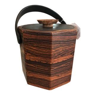 Kraftware Octagon Faux Wood Grain Ice Bucket