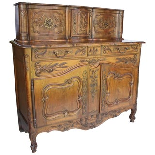 Early 18th Century Antique French Provencal Walnut Buffet For Sale