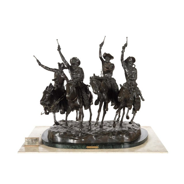 "F. Remington ""Coming Through the Rye"" Bronze Sculpture - Image 2 of 11"