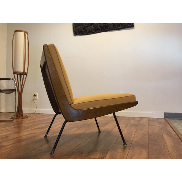 New Yellow Upholstery Mid-Century Boomerang Chair For Sale - Image 5 of 11