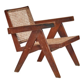 Pierre Jeanneret Chandigarh High Court V-leg chair, 1950s For Sale