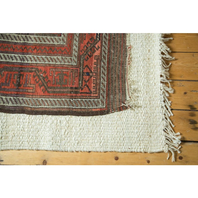 "Old New House Antique Belouch Rug Runner - 3' x 5'8"" For Sale - Image 4 of 9"