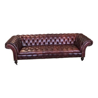 Ralph Lauren Home Chesterfield Leather Couch For Sale