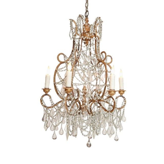 Early 20th Century Early 20th Century Italian Chandelier For Sale - Image 5 of 8