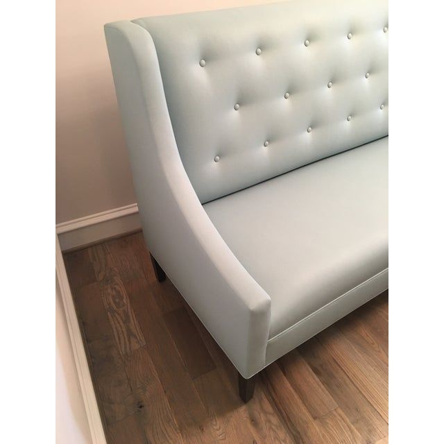 Faux Leather Dining Banquette Bench For Sale - Image 4 of 5
