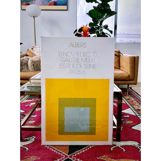 1973 Josef Albers Framed Homage to the Square Poster For Sale - Image 10 of 10