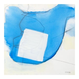 """Xanda McCagg """"Blue White Line"""", Painting For Sale"""