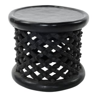 Bameleki Spider Table Hand Carved Solid African Hardwood From Camaroon: Small Size For Sale