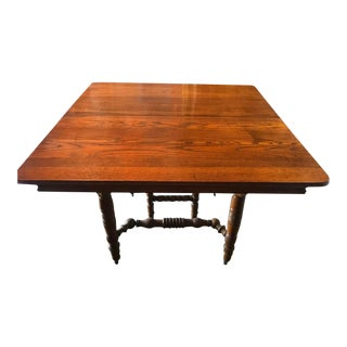 19th Century Victorian Oak Dining Table For Sale