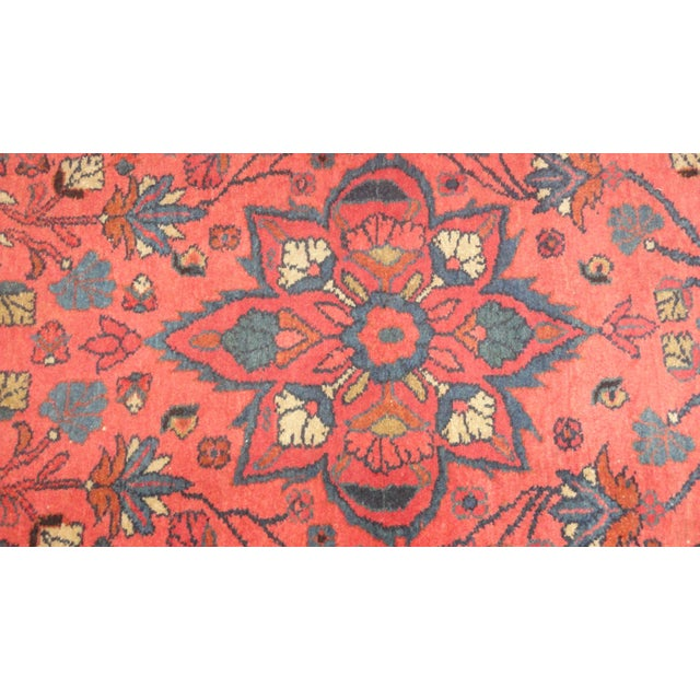 Add some ethnic elegance to your space with this antique Persian Lillihan rug. It has a plush wool pile, and was hand made...