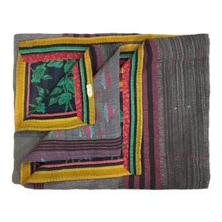 Tones of Purple Vintage Kantha Quilt