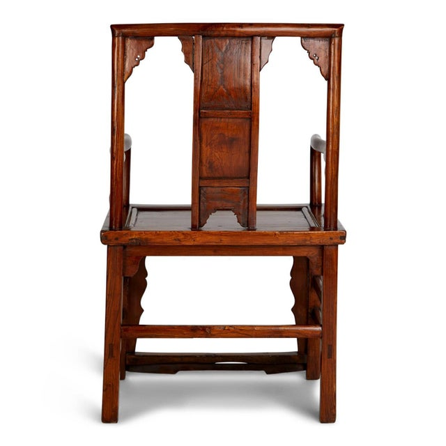Orange Pair of Chinese Carved Throne Armchairs For Sale - Image 8 of 11