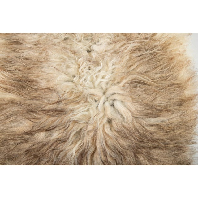"Contemporary Natural Wool Sheepskin Pelt - 2'0""x3'0"" For Sale In Chicago - Image 6 of 7"