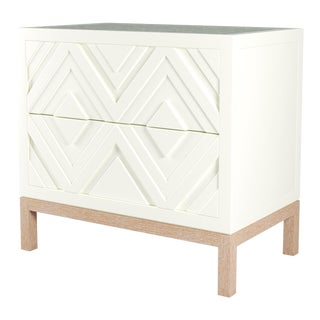 Susana Side Table - Simply White, Natural Cerused Oak For Sale