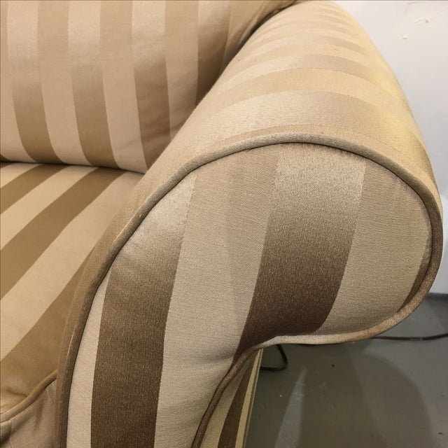 Z- Gallerie Upholstered Striped Cream Chair - Image 8 of 8