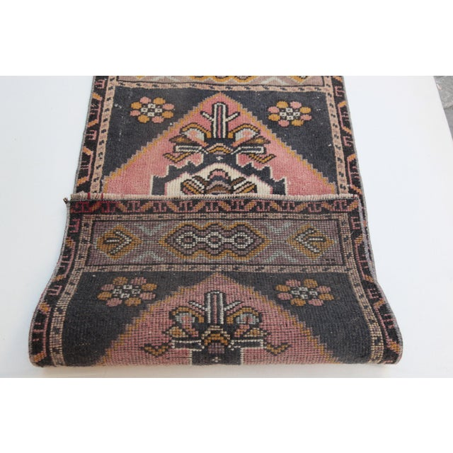 """1960s Turkish Pure Wool Carpet - 43"""" X 21"""" For Sale - Image 4 of 11"""