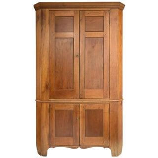 Antique American Cherry Corner Cabinet