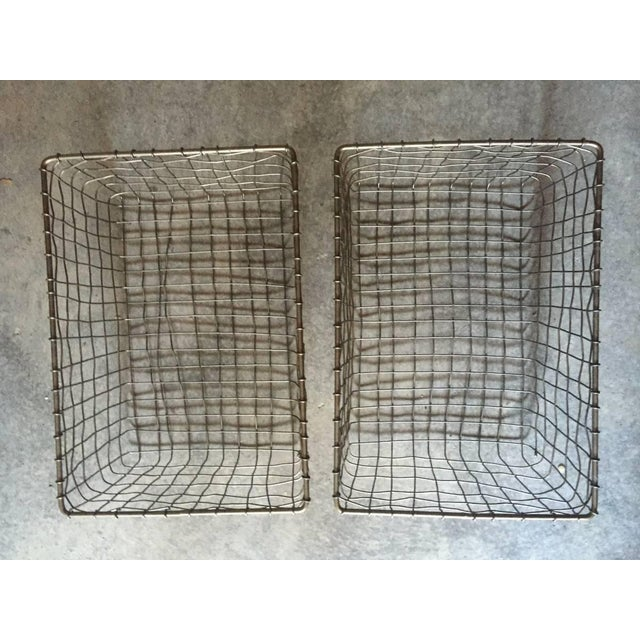 French Wire Vintage Style Market Baskets- Set of 3 - Image 3 of 11