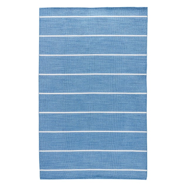 Jaipur Living Cape Cod Handmade Striped Blue/ Cream Runner Rug - 2′6″ × 8′ For Sale In Atlanta - Image 6 of 6