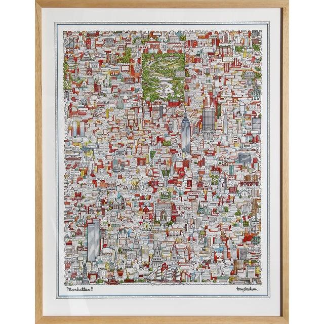 "Tony Graham, ""Manhattan!!,"" Poster - Image 1 of 2"