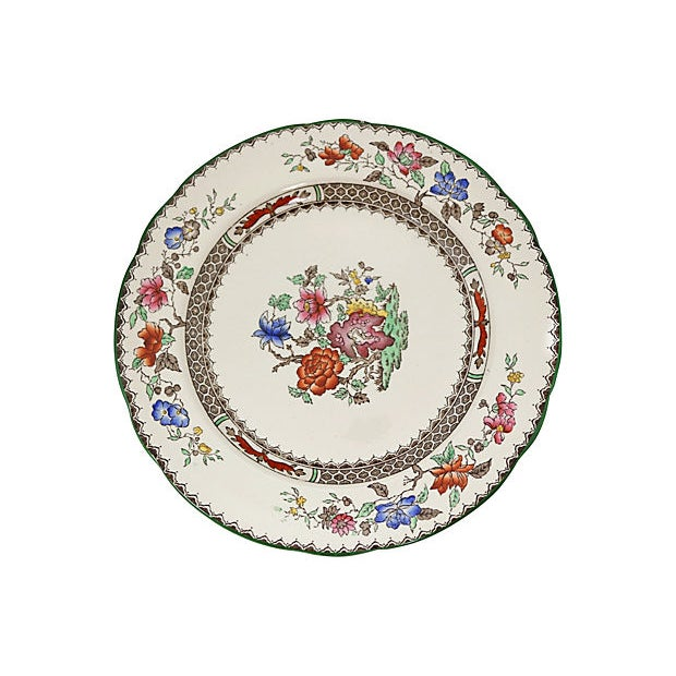 Boho Chic Antique Spode Chinese Rose Soup / Dinner Set - 23 Pieces For Sale - Image 3 of 6