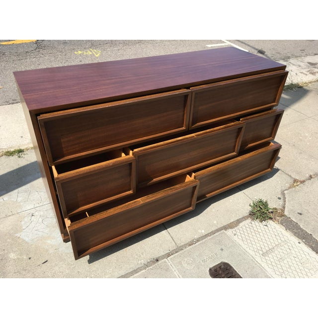 1940s 1940s Mid Century Modern Triangle Brand Mahogany Low Dresser For Sale - Image 5 of 11