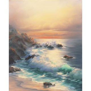 'California Evening, Golden Shore' by Rosemary Miner, Carmel, Long Beach, University of California at Los Angeles, Gallery Americana For Sale
