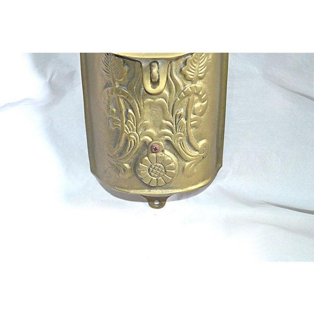 Vintage Brass Mailbox With Peephole - Image 5 of 11