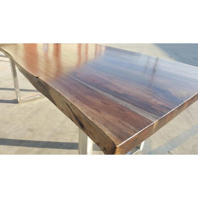 Acacia Wood Live Edge Table - Image 4 of 8