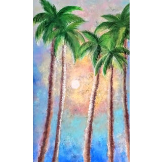 Original Modern Palm Trees Painting For Sale