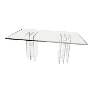Vintage Dual Lucite Base Table For Sale