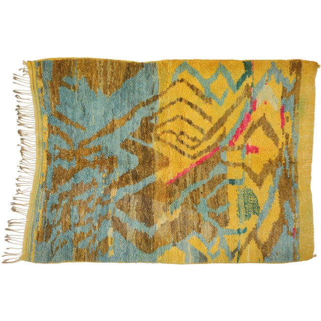 Contemporary Berber Moroccan Rug - 03'06 X 04'10 For Sale - Image 9 of 10