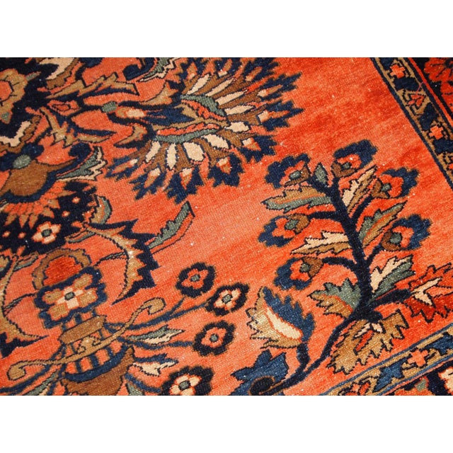 1920s, Handmade Antique Persian Lilihan Rug 5.3' X 7.2' For Sale - Image 4 of 10