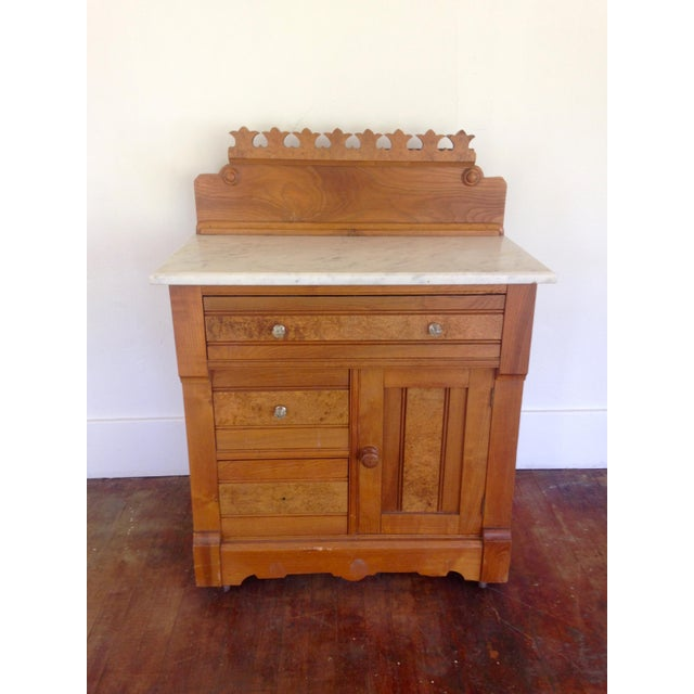 20th Century Boho chic G. Schindler & Co Marble Top Cabinet For Sale - Image 9 of 9