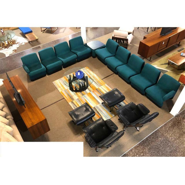 This stunning modular modern teal sectional sofa comes with 10 pieces. Inspired by the dynamic modular Etcetera Sectional...