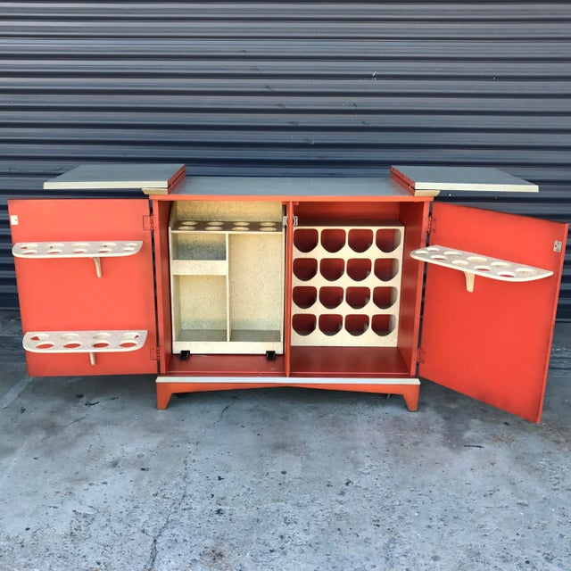 Vintage Chinoiserie Bar Cabinet - Image 4 of 11