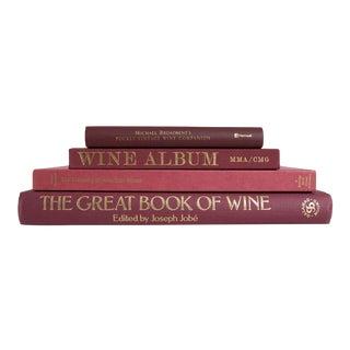 Merlot Wine Coffee Table Set - Set of 4 For Sale