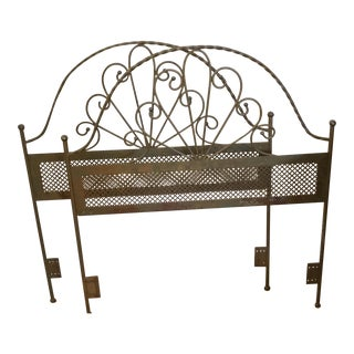 1960s Vintage Metal Brass Twin Headboards - a Pair For Sale