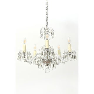 Small Bohemian Crystal Five Arm Chandelier Preview