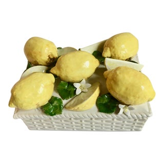 Italian Ceramic Lemon Garniture Box