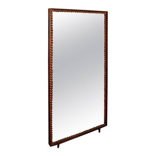 1940s Standing Mirror by Gilbert Poillerat For Sale