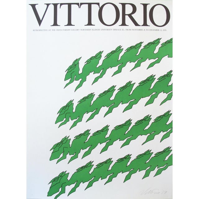 1979 Exhibition Poster Swan Parson Gallery, Vittorio For Sale